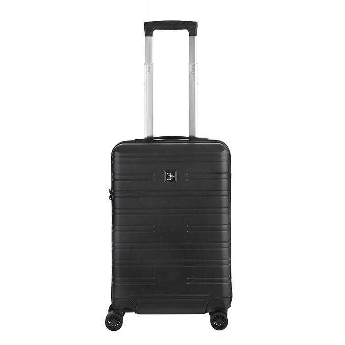 Travelbags Premium Handbagage koffer - 55 cm - 4 wielen  - USB - black - 1