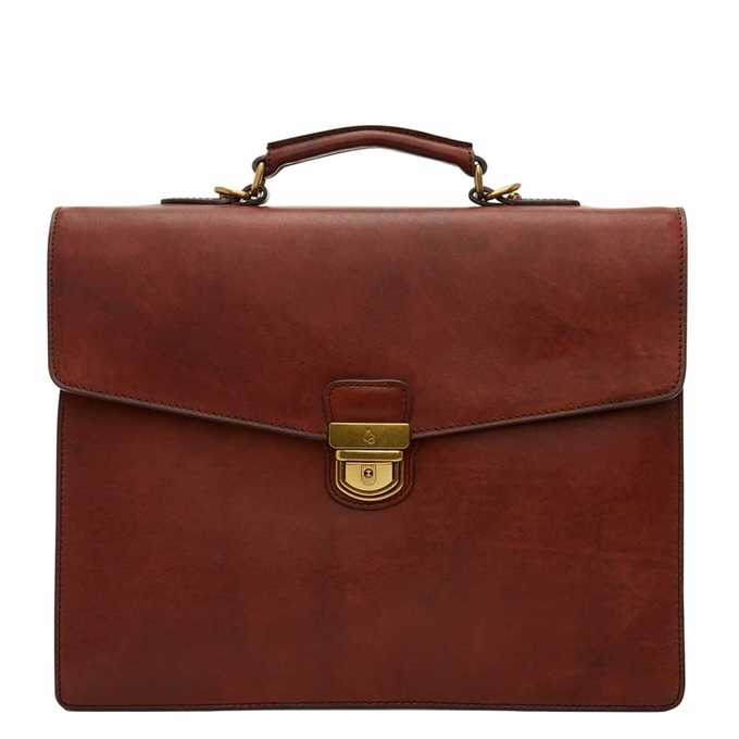 "Castelijn & Beerens Dutch Masterpiece Laptoptas 15"" cognac - 1"