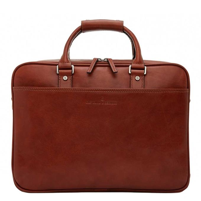 """Castelijn & Beerens Verona Business Laptoptas 15.6"""" licht bruin2 - 1"""