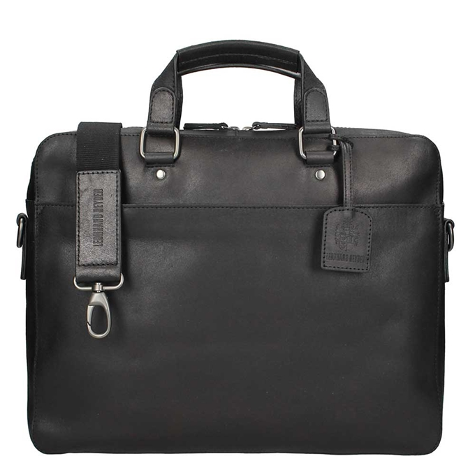 Leonhard Heyden Dakota Briefcase 1 Compartment black2 - 1