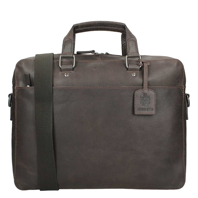 Leonhard Heyden Dakota Briefcase 1 Compartment brown - 1