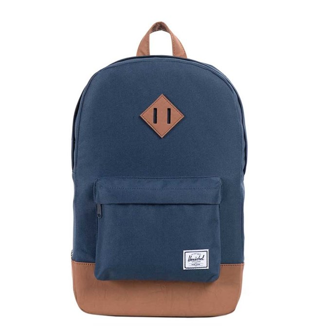 Herschel Supply Co. Heritage Mid-Volume Rugzak navy/tan synthetic leather - 1