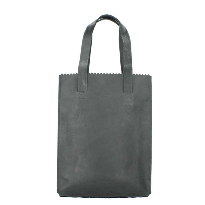 Myomy Paper Bag Long Handle Zip hunter off black