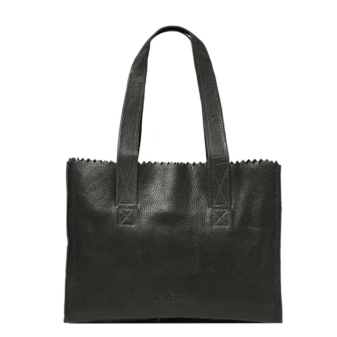 Myomy Paper Bag Handbag rambler black