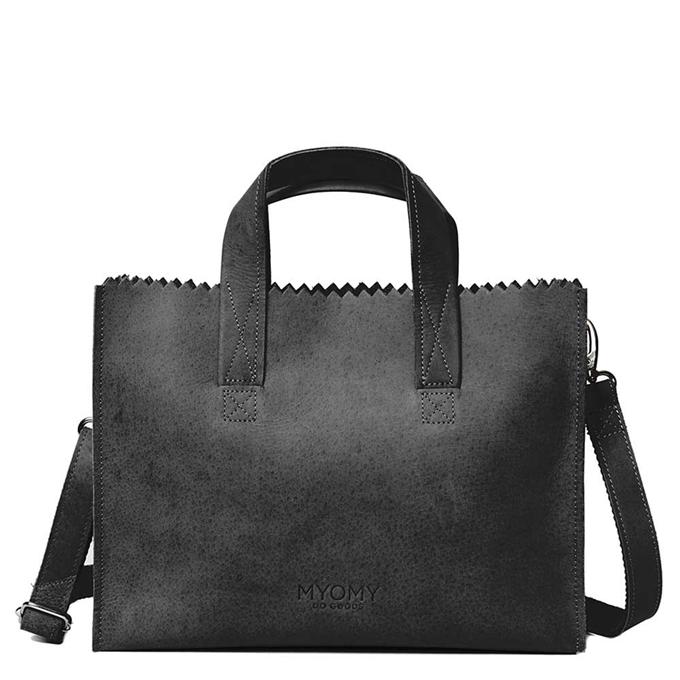 MyOMy Paper Bag Handbag Crossbody hunter off black
