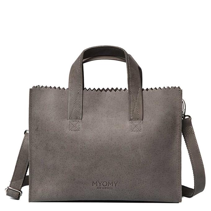 Myomy Paper Bag Handbag Crossbody taupe - 1
