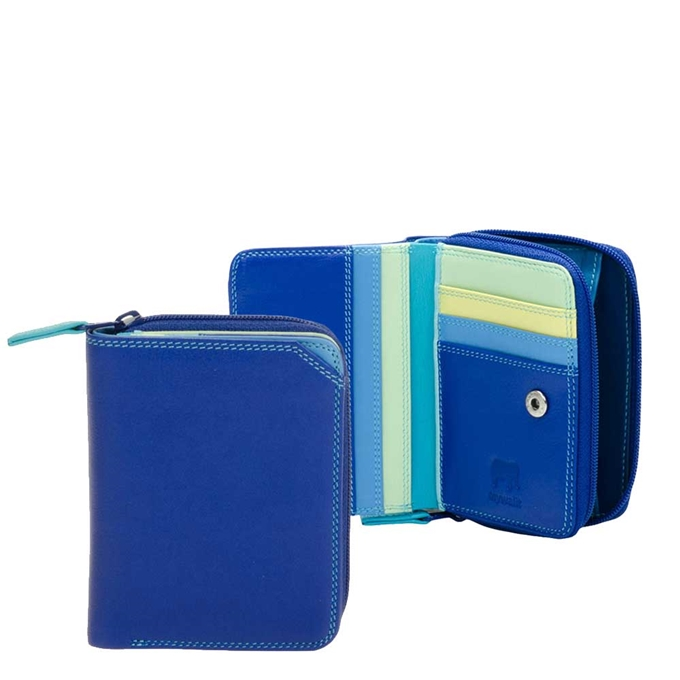 Mywalit Ladies Small Wallet w/Zip Around Purse seascape
