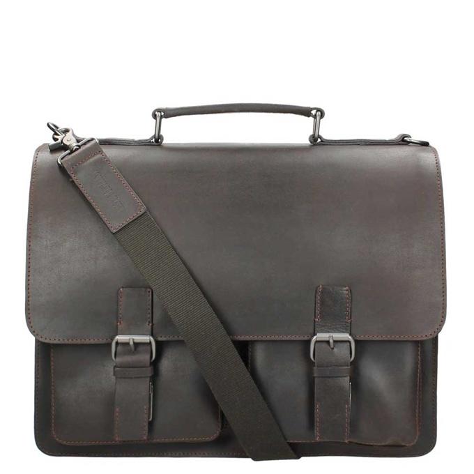 Leonhard Heyden Dakota Briefcase 2 Compartments brown - 1