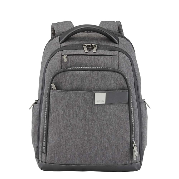 """Titan Power Pack 15"""" Laptop Backpack Expandable mixed grey - 1"""