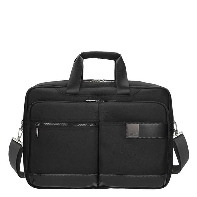 "Titan Power Pack 17"" Laptopbag expandable  black"