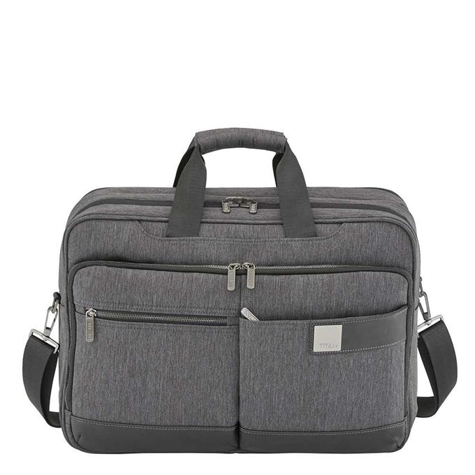 "Titan Power Pack 15.6"" Laptopbag expandable mixed grey"