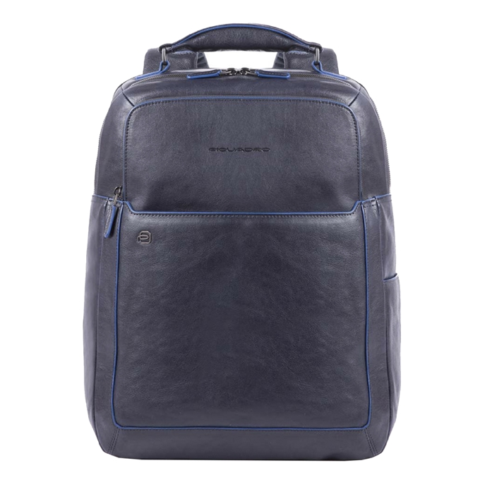 """Piquadro Blue Square Fast Check Computer Backpack with iPad 10.5"""" night blue - 1"""