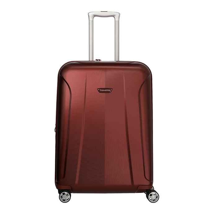 Travelite Elbe 4 Wiel Trolley M Expandable red - 1