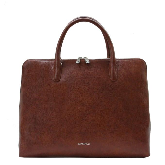 Gigi Fratelli Romance A4 laptop bag brandy