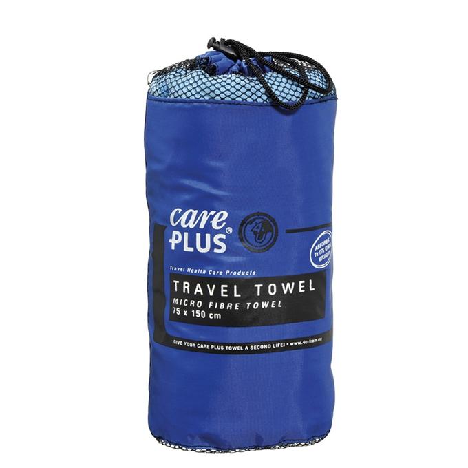 Care Plus Hygiene Travel Towel - Microfibre Towel Large blue - 1