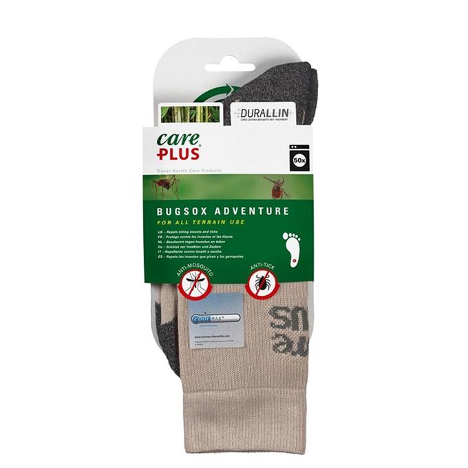Care Plus Bugsox Adventure Geimpregneerde Sokken Maat 38-40 khaki - 1
