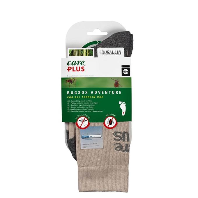 Care Plus Bugsox Adventure Geimpregneerde Sokken Maat 41-43 khaki - 1