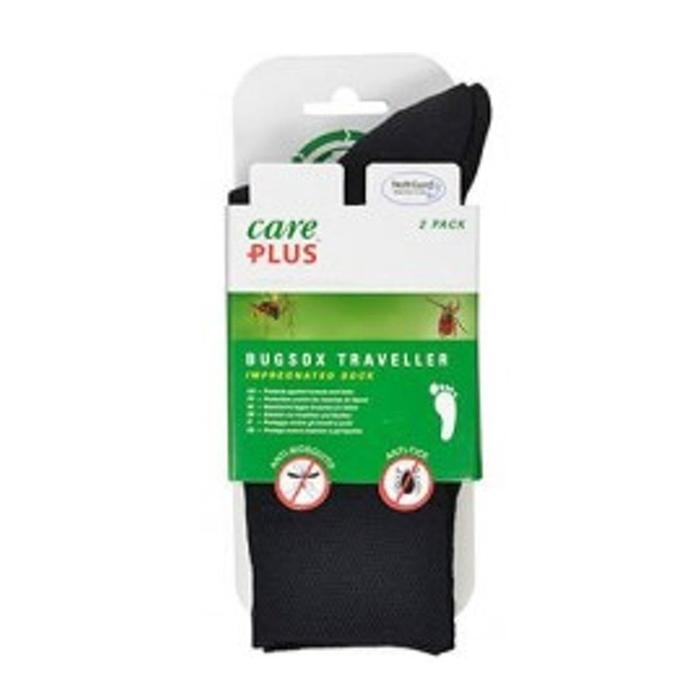 Care Plus Bugsox Traveller Geimpregneerde Sokken Maat 41-43 2-pack black