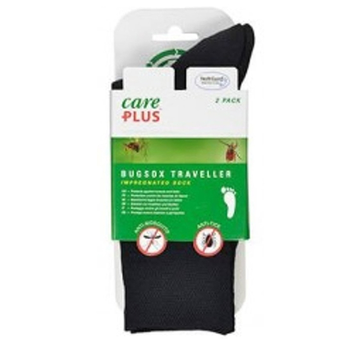 Care Plus Bugsox Traveller Geimpregneerde Sokken Maat 44-47 2-pack black - 1