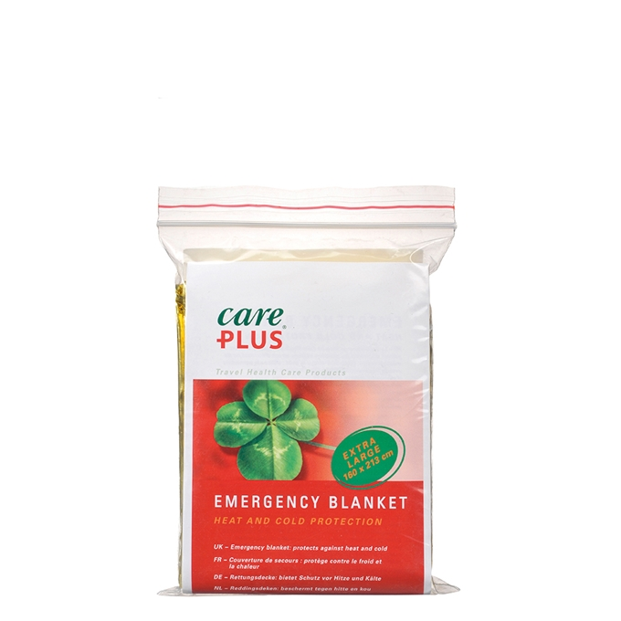Care Plus First Aid Emergency Blanket 160 cm x 213 cm gold / silver - 1