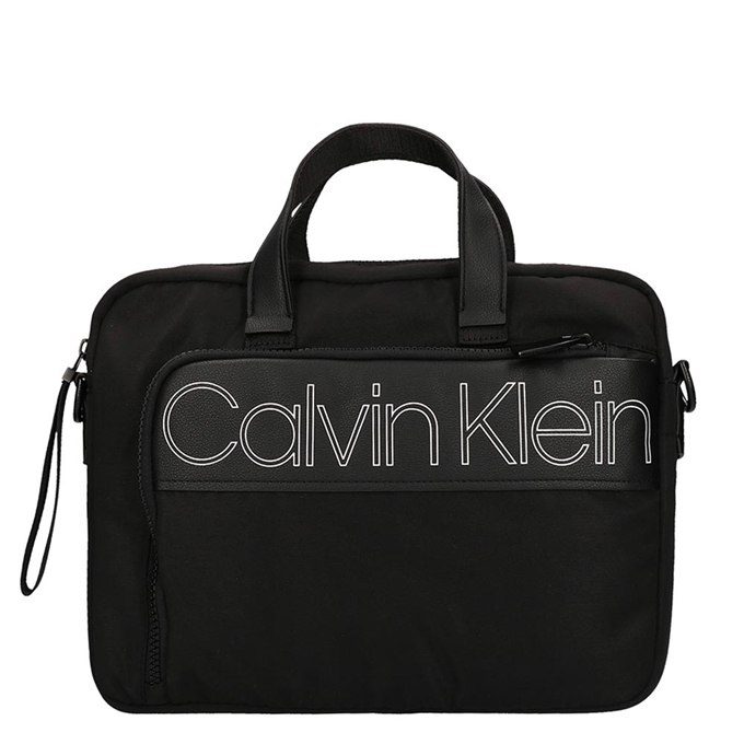 Calvin Klein Double Logo Laptop Bag black