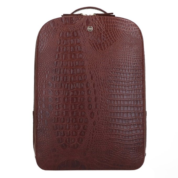 FMME. Claire 15.6 Backpack Croco brown