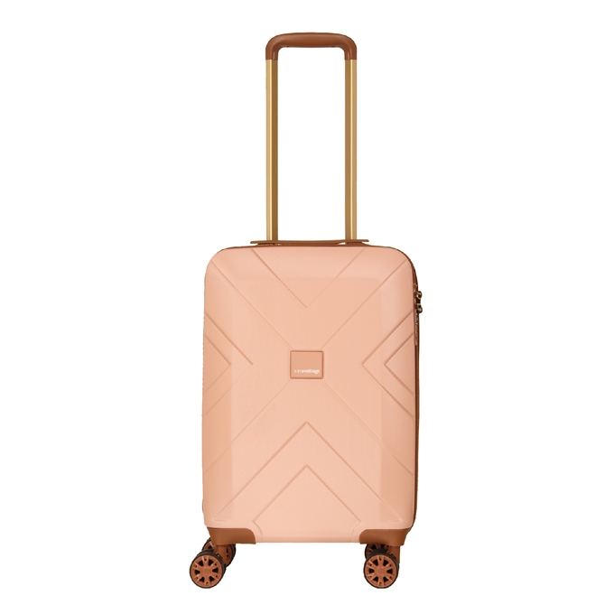 Travelbags Parijs 4 Wheel Trolley 55 pink - 1