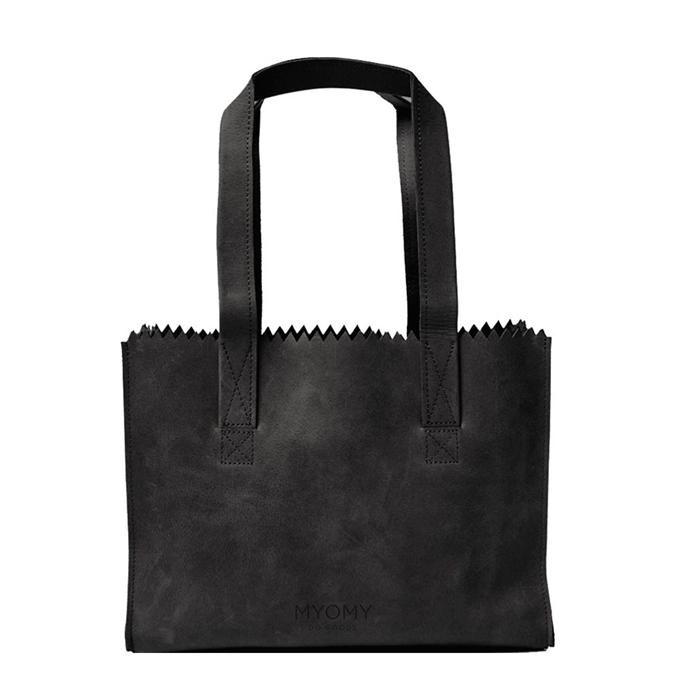 Myomy Paper Bag Handbag off black - 1