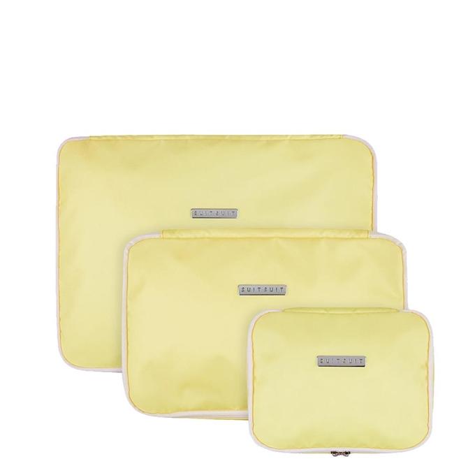 SUITSUIT Fabulous Fifties Packing Cube Set S-M-L mango cream - 1