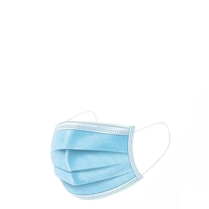 50 stuks 3 Laags Mondmasker geschikt voor openbaar vervoer en vliegreizen blauw wit
