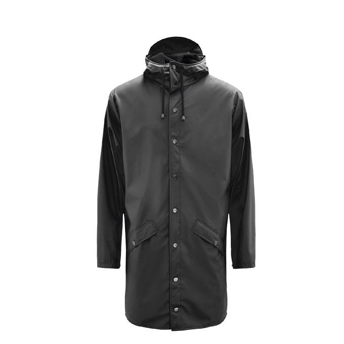 Rains Long Jacket Regenjas S/M black