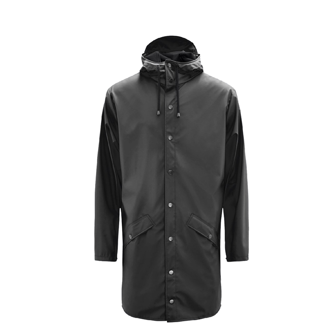 Rains Long Jacket Regenjas XS/S black