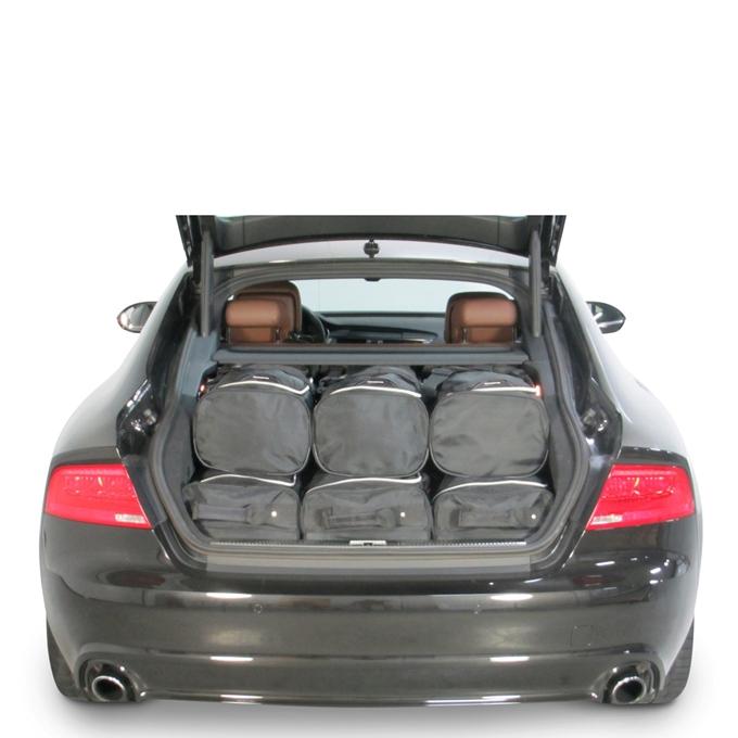 Car-Bags Audi A7 Sportback (2010-2017) 6-Delige Reistassenset zwart