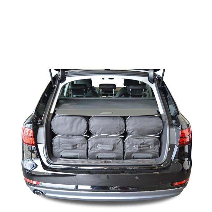 Car-Bags Audi A4 Avant (2015-heden) 6-Delige Reistassenset zwart