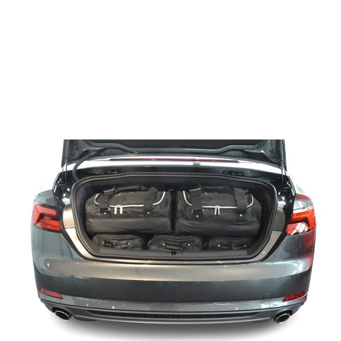 Car-Bags Audi A5 Cabriolet (2016-heden) 6-Delige Reistassenset zwart