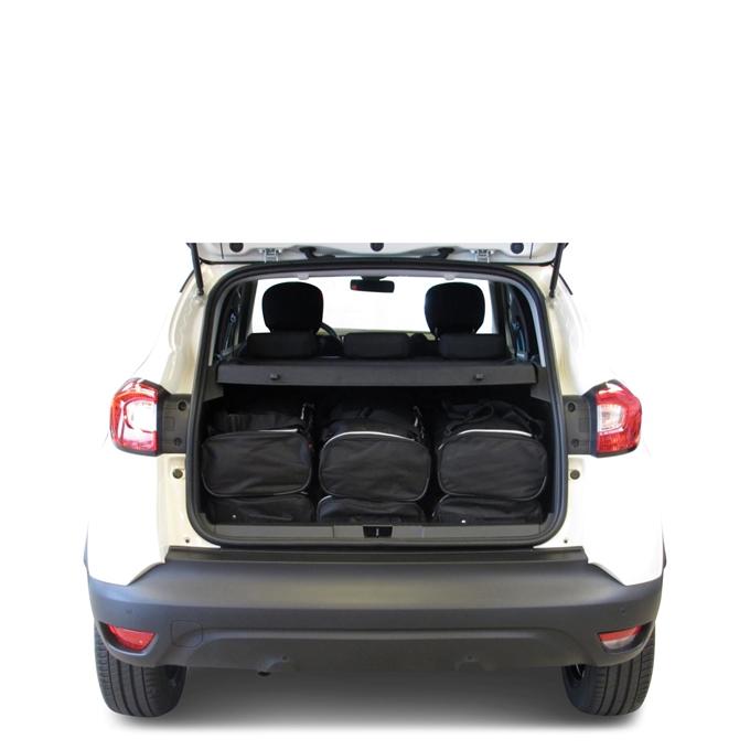Car-Bags Renault Captur I (2013-2019) 6-Delige Reistassenset zwart