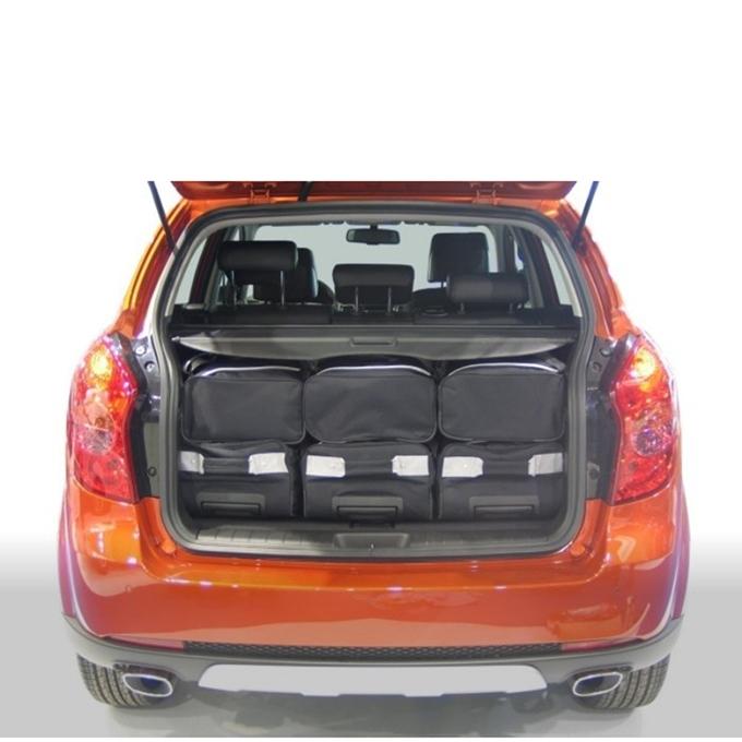 Car-Bags Ssangyong Korando (2010-2019) 6-Delige Reistassenset zwart