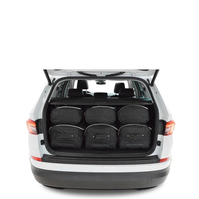 Car-Bags Skoda Kodiaq 7-sits (2017-heden) 6-Delige Reistassenset zwart
