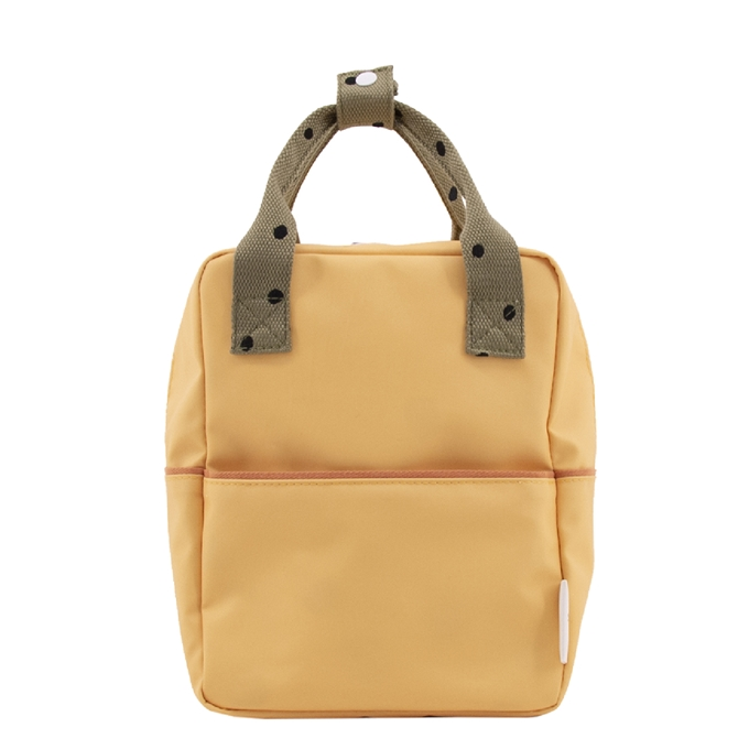 Sticky Lemon Freckles Backpack Small retro yellow seventies green faded orange - 1