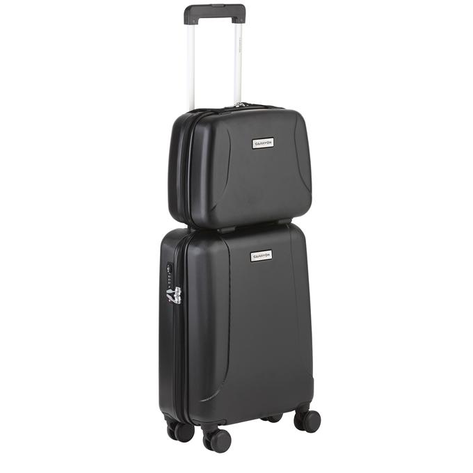 CarryOn Skyhopper 4 Wiel Trolley 55 + Beautycase Set black