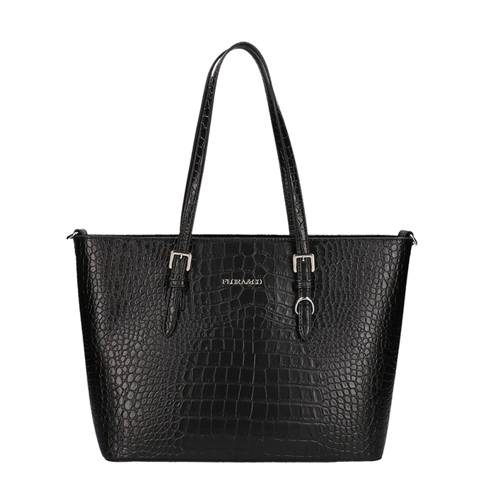 Flora & Co Bags Shopper Croco zwart