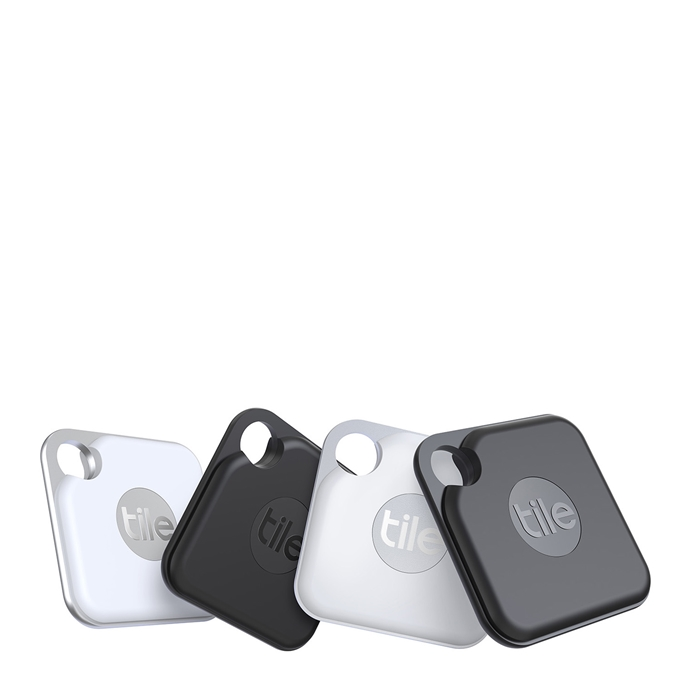 Tile Bluetooth Tracker Pro+ (2020) 4-pack black/white