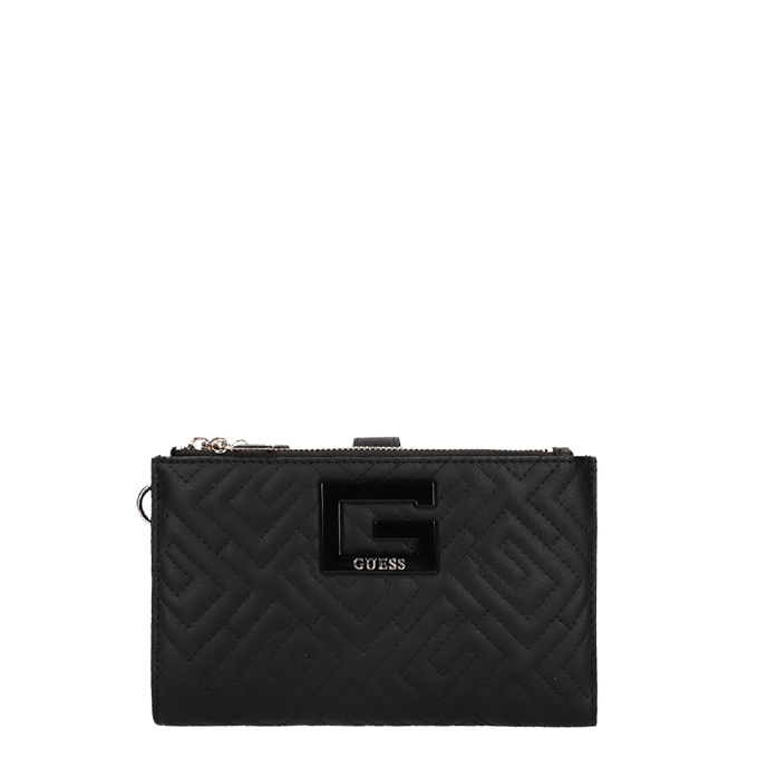 Guess Brightside Double Zip Organizer black
