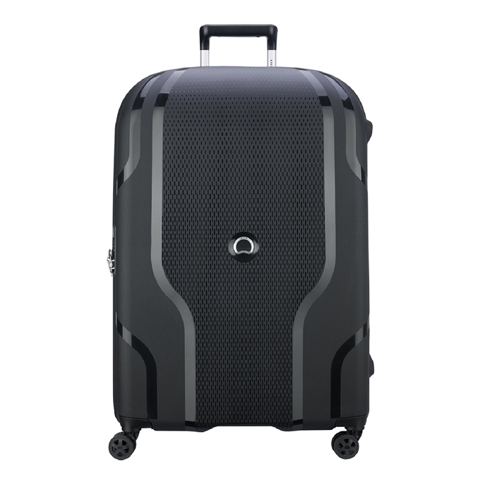 Delsey Clavel 4 Wheel Trolley 83 Expandable black
