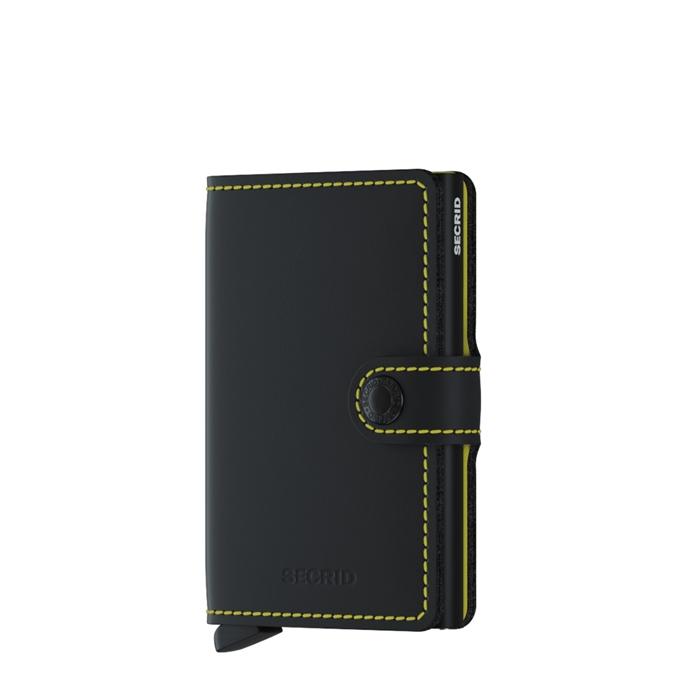 Secrid Miniwallet Wallet matte black & yellow - 1
