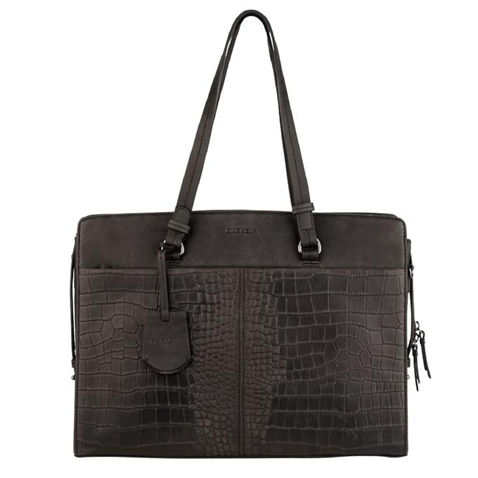 Burkely Croco Cody Workbag black - 1