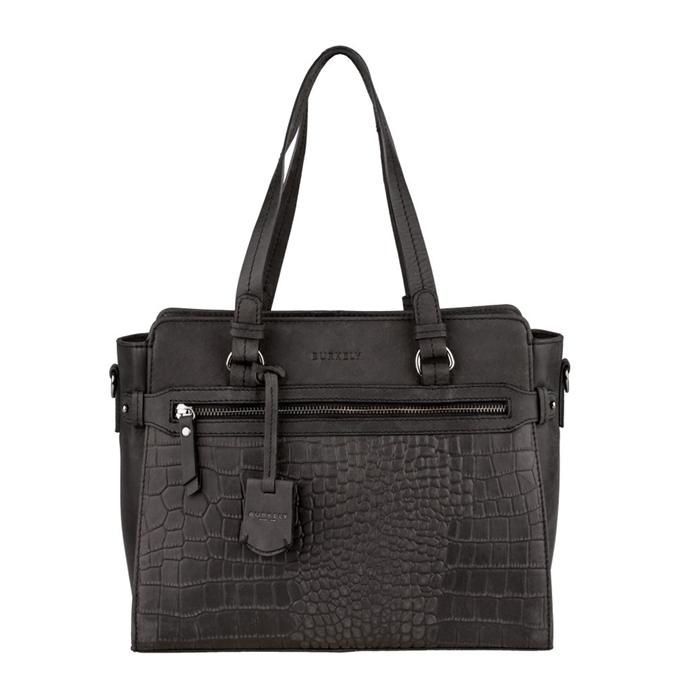 Burkely Croco Cody Handbag S black - 1
