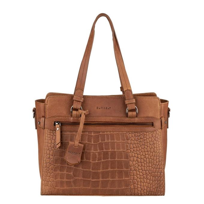 Burkely Croco Cody Handbag S mangrove cognac - 1