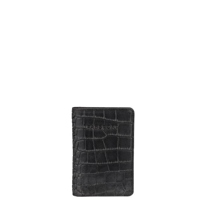 Burkely Croco Cody Passportcover black