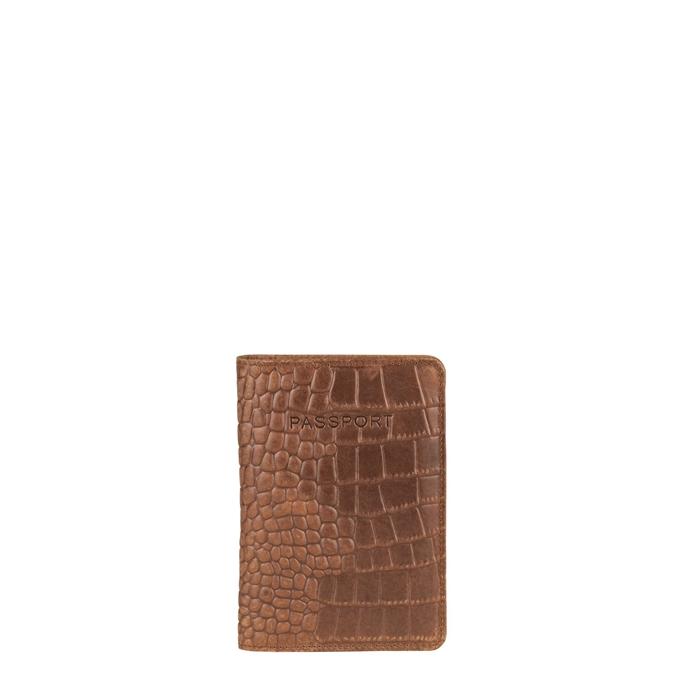 Burkely Croco Cody Passportcover mangrove cognac